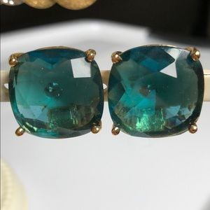 Kate Spade Clip Back Teal Earrings